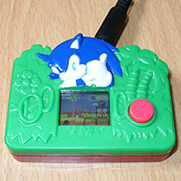Image of Switch Adapted Sonic the Hedgehog - SEGA / McDonalds Happy Meal LCD Toy.