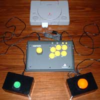 Original Sony Playstation with Switch Interface and 2 switches.