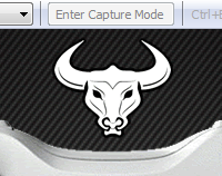 "Image of the Conrus Device Bullseye software with ""Enter Capture Mode"" button above a bulls head."
