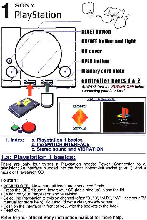 1. Playstation Basics (page 1 of 16)