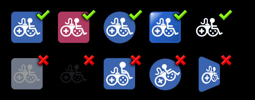 Game Accessibility Symbol guidance.
