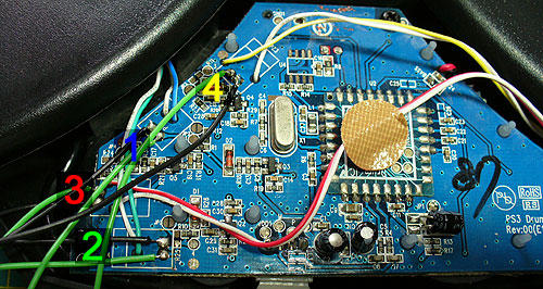 4. Playstation Rock Band PCB Wiring Guide